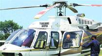 As political bigwigs descend on city, demand for choppers soars