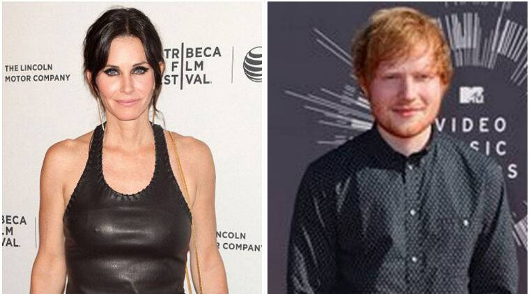 Ed Sheeran introduced Courtney Cox to her now fiance Johnny Mcdaid. (Source: AP)