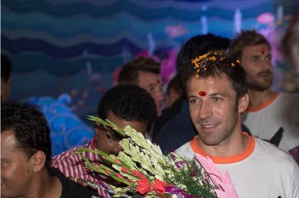 Alessandro del Piero comes to Chittaranjan Park during Durga Puja to promote Delhi Dynamos FC