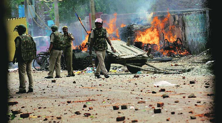 AAP, Congress, accuse 'Hindutva elements' of stoking violence