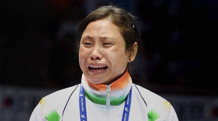Sarita was a Kung Fu practitioner before she took up boxing at the age of 15. And like Mary Kom, Sarita too hails from a poor family. (Source; PTI)