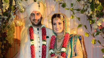 Dia Mirza ties the knot with Sahil Sangha
