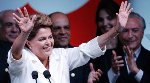 Brazil's Dilma Rousseff narrowly wins second term