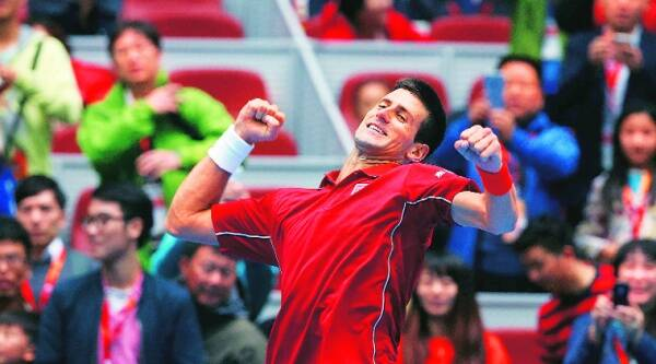 Djokovic beat Andy Murray 6-3, 6-4 on Saturday to reach his fifth final in six years at the China Open.  Source: REUTERS