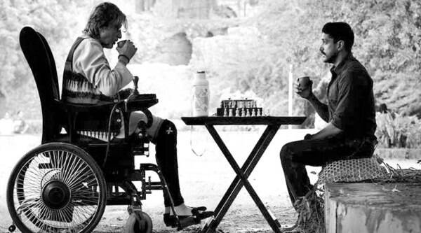 Amitabh Bachchan and Farhan Akhtar contemplate their next move during a game of chess