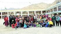 These children go to Leh school with a little help from IAF chopper