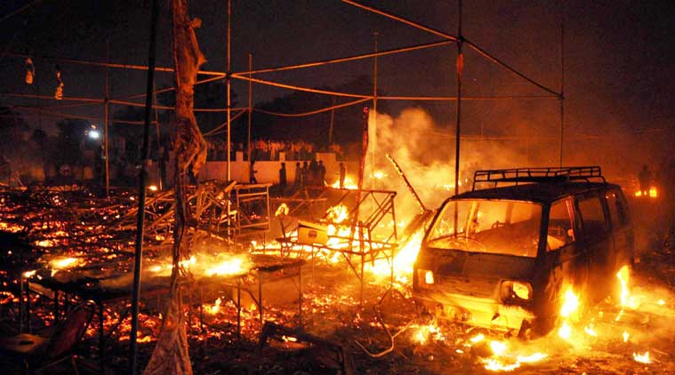Fire at cracker market in Faridabad, over 230 shops gutted