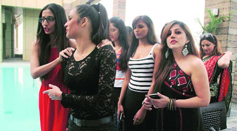 Models a day before the start of Punjab International Fashion Week at MBD Radisson Blu Hotel in Ludhiana on Thursday. (Source: Express photo by Gurmeet Singh)