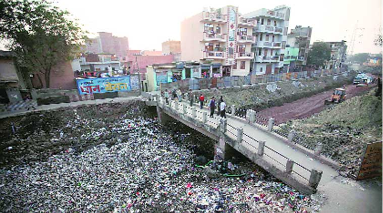 The court noted that garbage was accumulating in open areas in Dwarka. 	(Source: Express Archive)