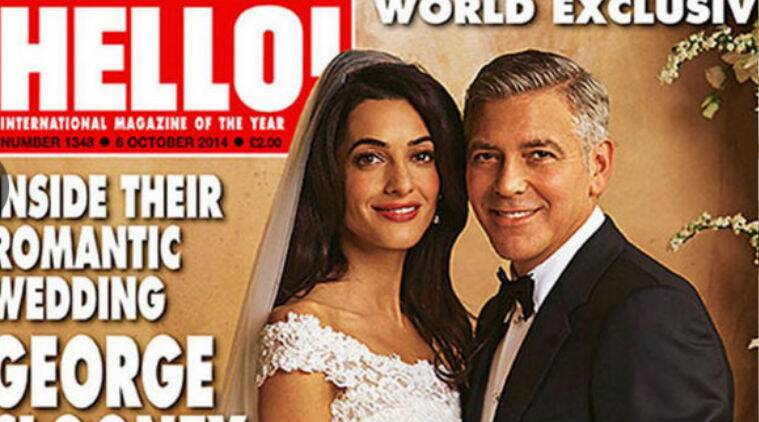 George Clooney and Amal Alamuddin got married in Venice, Italy on September 27. (Source: AP)