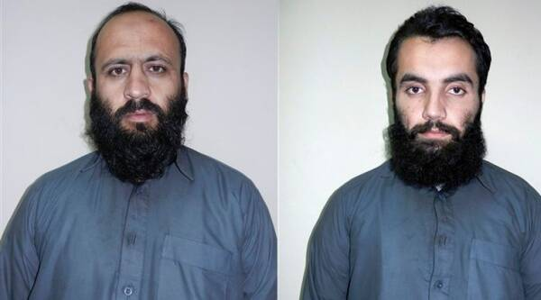 Hafiz Rashid (R), a senior leader of the al-Qaida-linked Haqqani network, poses for a picture in Kabul, Afghanistan. Officials said Rashid, a senior commander of the network, and Anis Haqqani (L), another senior leader of the network, have been arrested by the Afghan intelligence service NDS in eastern Khost province. (Source: AP)