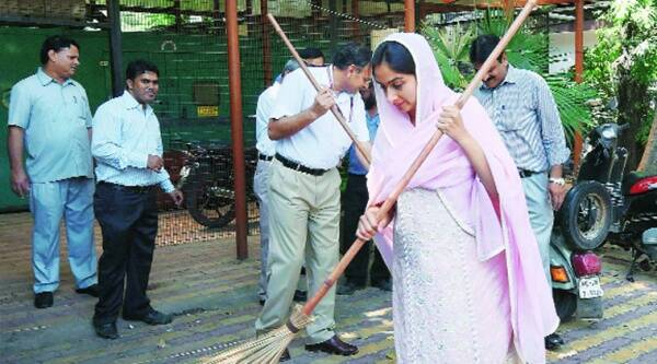 Food Processing Indus-tries Minister Harsimrat Kaur Badal at Panchseel Bhavan in New Delhi on Wednesday. Source: PTI