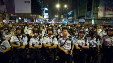 Hong Kong leader claims 'external forces' at play in pro-democracy protests