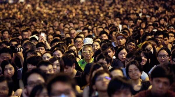 Thousands of pro-democracy activists attend a rally on the streets near the government headquarters on  Saturday. (Source: AP)