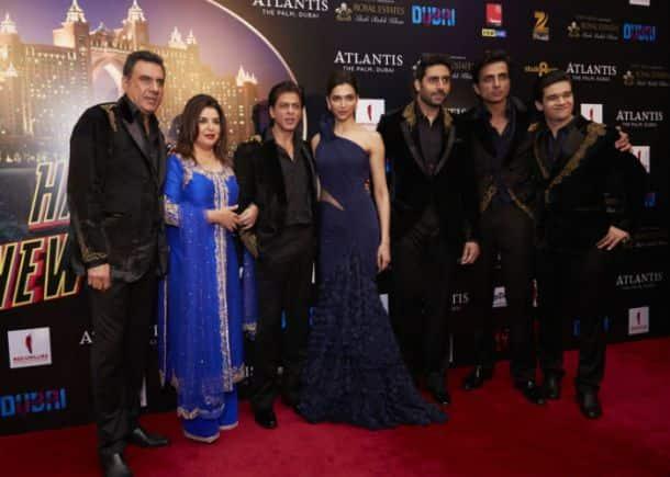 Shah Rukh Khan, wife Gauri, Deepika deck up for 'Happy New Year's Dubai premiere