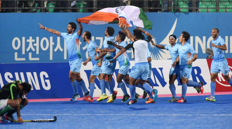 India outclassed arch-rivals Pakistan 4-2 in a nerve-wrecking shoot-out to regain the Asian Games men's hockey gold medal after 16 years. (Source: PTI)