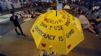 Hong Kong democracy protest camp shutdownlooms
