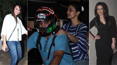 PHOTOS: Sonakshi's night out, Ragini Khanna goes for a bike ride