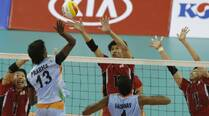 India go down fighting in men's volleyball quarters