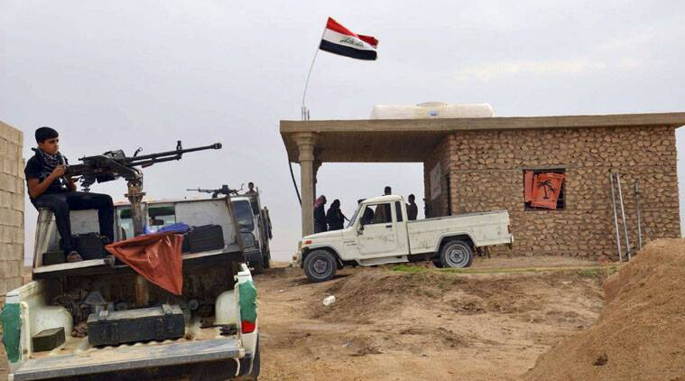 Iraqi government forces and Shi'ite militias took control of the strategic town of Jurf al-Sakhar.