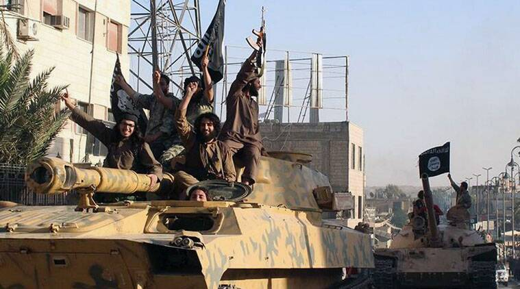 Islamic State group fighters seized at least one cache of weapons airdropped by US-led coalition forces.