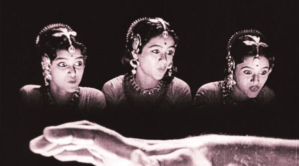 A still from Uday Shankar's Kalpana (1948), which was restored with the help of Scorsese's World Cinema Foundation (above right); a still from the restored Devdas