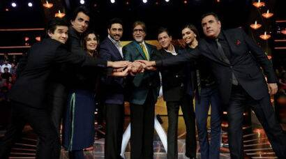 Happy New Year's SRK, Abhishek, Deepika shoot 'KBC' Diwali special