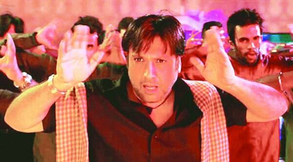 Govinda in an intense mood during a song sequence