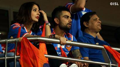 Indian Super League: Virat Kohli, Anushka Sharma enjoy football; FC Pune City register maiden win