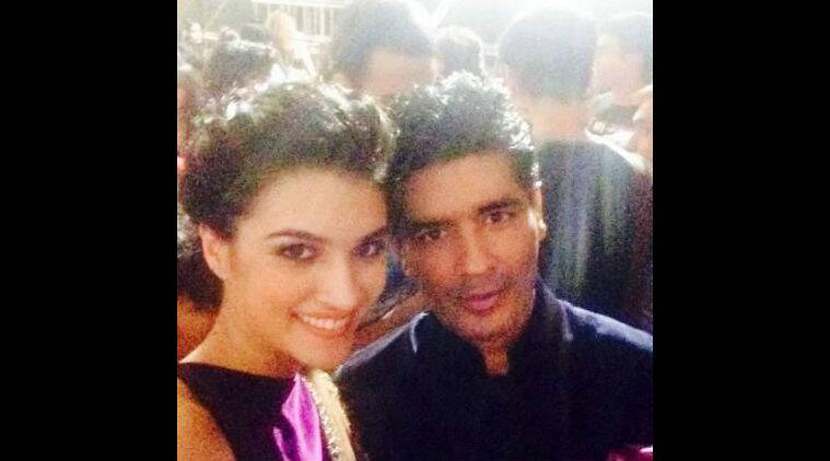 Manish Malhotra tweeted a picture of himself along with his model Kriti Sanon. (Source: Twitter)