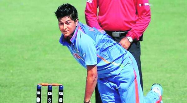 Kuldeep Yadav is yet to play a First-Class game but seems to have made an impression on the selectors, most recently during the CLT20. Source: FILE