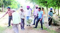 Own ward in shatters, SAD councillor leads cleanliness drive in Leisure Valley
