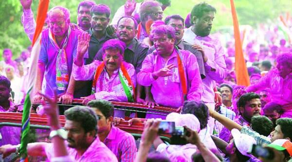 Chavan largely confined himself to his constituency. (Source: Express photo)