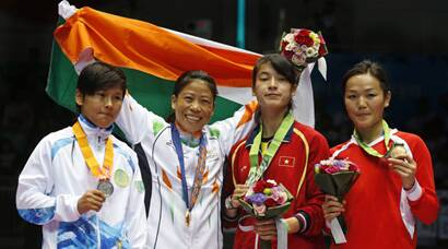 MC Mary Kom delivers her best at Asian Games, bags gold