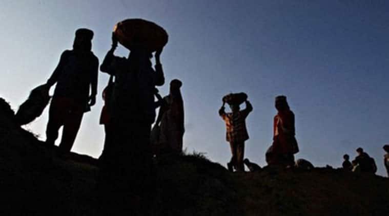 MGNREGA, MNREGA jobs, Rural distress, MGNREGA jobs last year, Mahatma Gandhi National Rural Employment Guarantee Act, Job crisis, farmer distress, poverty, india news, indian express