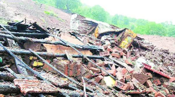 Malin village after the landslide. (source: IE photo)
