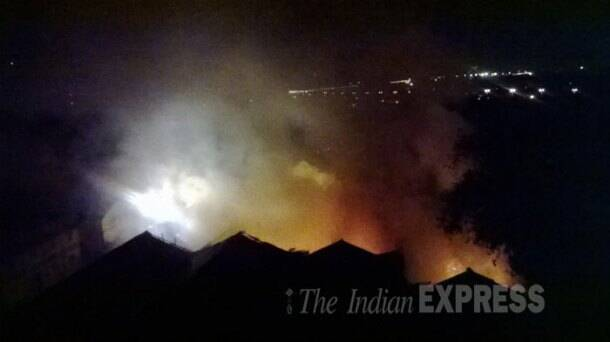 Major fire breaks out at military canteen in Mumbai