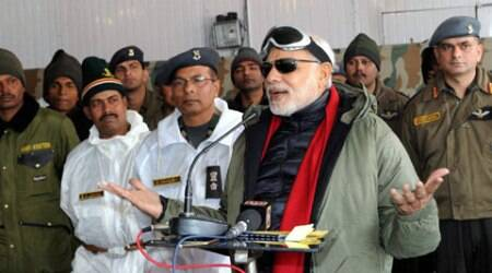 PM Modi announces Rs 745-cr package for the flood-hit state, meets troops at Siachen on his Diwali visit to J&K