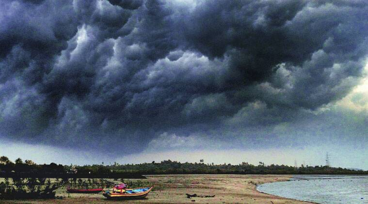 The cyclone which was still away from Kutch in Gujarat was getting weak and wind speed was around 67 km per hour.