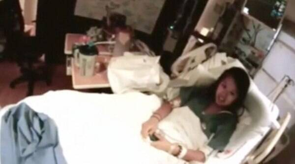 Nina Pham in a still taken from a video in her isolation room at Texas Presbyterian Hospital in Dallas on October 16, 2014. (Source: Reuters)
