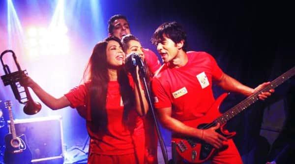 Nivedita Basu  with her team mates