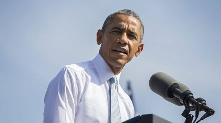 US President Barack Obama made his lone campaign appearance with a Democrat running for Senate in Michigan.