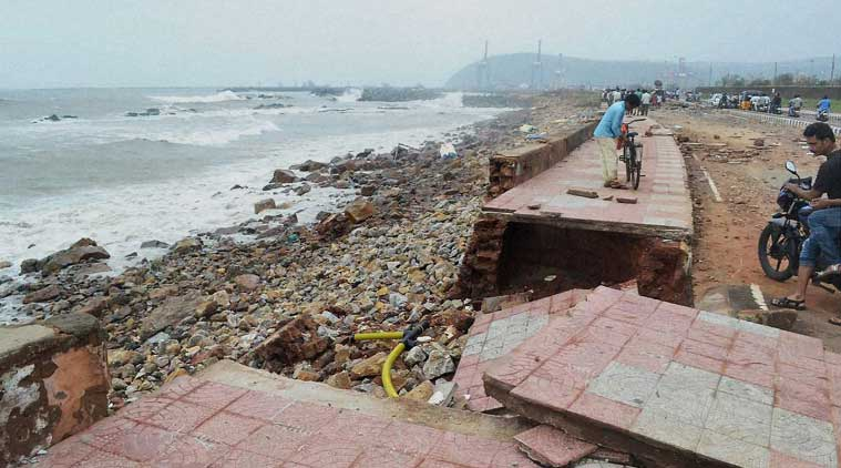 Damages aftermath of the Hudhud Cyclone in Visakhapatnam. (Source: PTI)