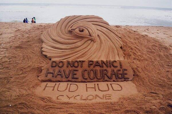 sand sculpture on Hudhud