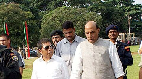 Home Minister Rajnath Singh said BJP will look for alliance in Maharashtra. (Source: PTI photo)