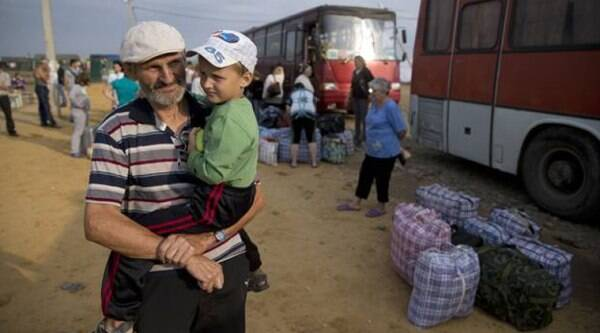 Around 95 per cent of the displaced people are from conflict-torn eastern Ukraine. (Source: AP)