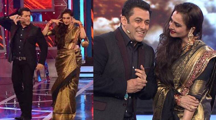 The two share a very cordial camaraderie as Salman Khan began his acting career with 'Biwi Ho Toh Aisi' which had Rekha and Farooq Sheikh in the lead.
