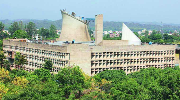 The Vidhan Sabha as a part of the Capitol Complex in Chandigarh. (Source:  Express photo)