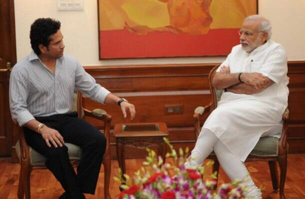 Today in Pics: Sachin Tendulkar meets Narendra Modi, to adopt a village