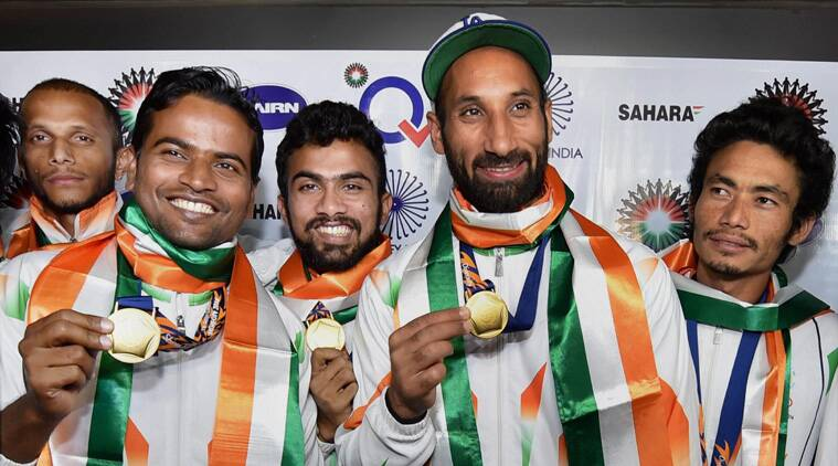 Sardar Singh and Co. smiles after winning the Asian Games gold (Source: PTI)